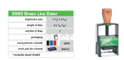 "Green 2000 Plus 2660 Self-Inking Dater 1 1/2"" x 2 5/16"" The Environmentally Responsible Self Inking Stamp"