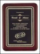 P3719  8 x 10.5 Rosewood Plaque Engraved