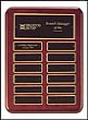 P3762 12 x 15 Rosewood Perpetual Plaque Engraved