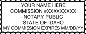 Idaho Notary Stamp Rectangle
