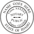 NOTARY PUBLIC STATE OF IDAHO PRE-INKED / SELF INKING