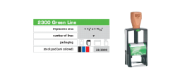 Green 2000 Plus 2360 Self-Inking Dater 1 x 1 5/ The Environmentally Responsible Self Inking Stamp