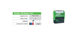"Green Printer 40, 15/16"" x 2.385"" The Environmentally Responsible Self Inking Stamp"