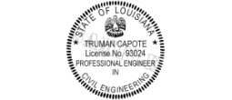 Rubber Stamp Engineer for State of Louisiana Electronic