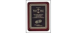 P3717  7 x 9 Rosewood Plaque Engraved